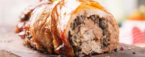 Smoke a Christmas Stuffed Pork Roast on a Kamado Grill