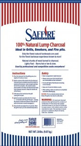 Saffire 100% All Natural Lump Charcoal Bag - Back