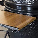 Saffire's bronze grill bamboo sideshelf is shown