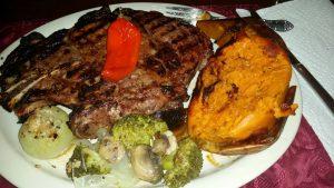 A Kamado Steak Night