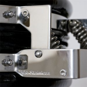 A 304 stainless-steel hinge with hinge springs for opening large grills more easily