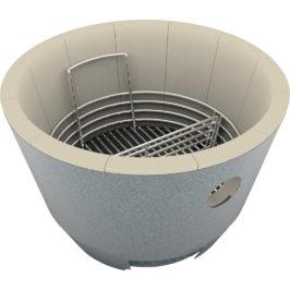 Crucible Kamado Firebox – Ceramic Kamado Firebox Replacement – Platinum