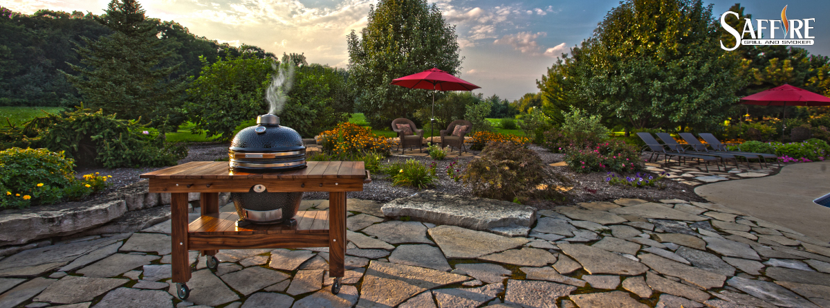 Saffire grills are majestic enough to sit in any setting, no matter where you live