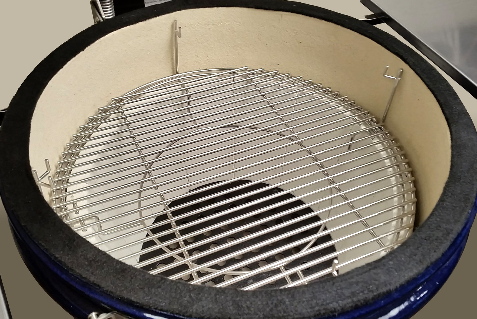 Multi-Grid shown with both grids at the bottom level of a Multi-Rack; Crucible Firebox shown below them
