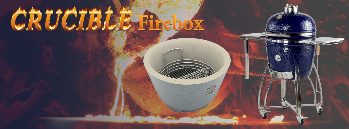 Saffire's Crucible firebox, like a crucible for smelting iron, is super tough; it virtually eliminates the need to replace broken fireboxes.